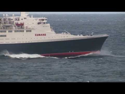 QE2's final transatlantic crossing, October 2008