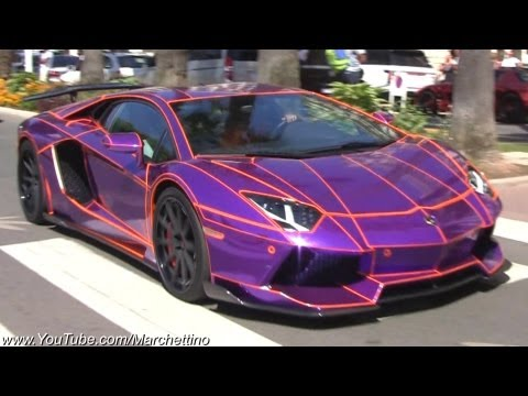 EPIC Chrome Purple Lamborghini Aventador Tron