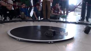 Mega Sumo Robots at International robot competition RobotChallenge 2014