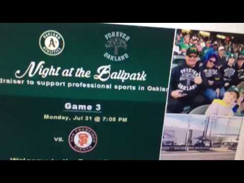 SF Bay Area Events - Giants at Oakland A's Tonight Tickets