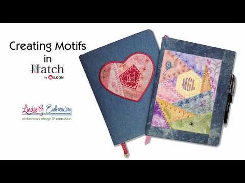Repeat Hatch Embroidery 2 - Creating Motifs and Borders by