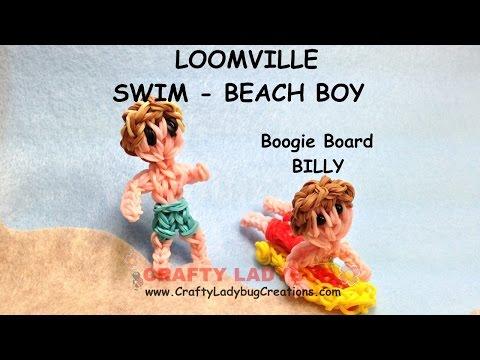 Rainbow Loom Band BEACH/SWIMMING BOY Advanced Figure Tutorials/How to Make by Crafty Ladybug