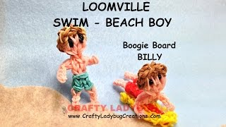 Rainbow Loom Band Beach/swimming Boy Advanced Figure Tutorials/how To Make By Crafty Ladybug