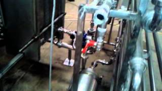 pasteurizer and separator plant tested on camera for costumers