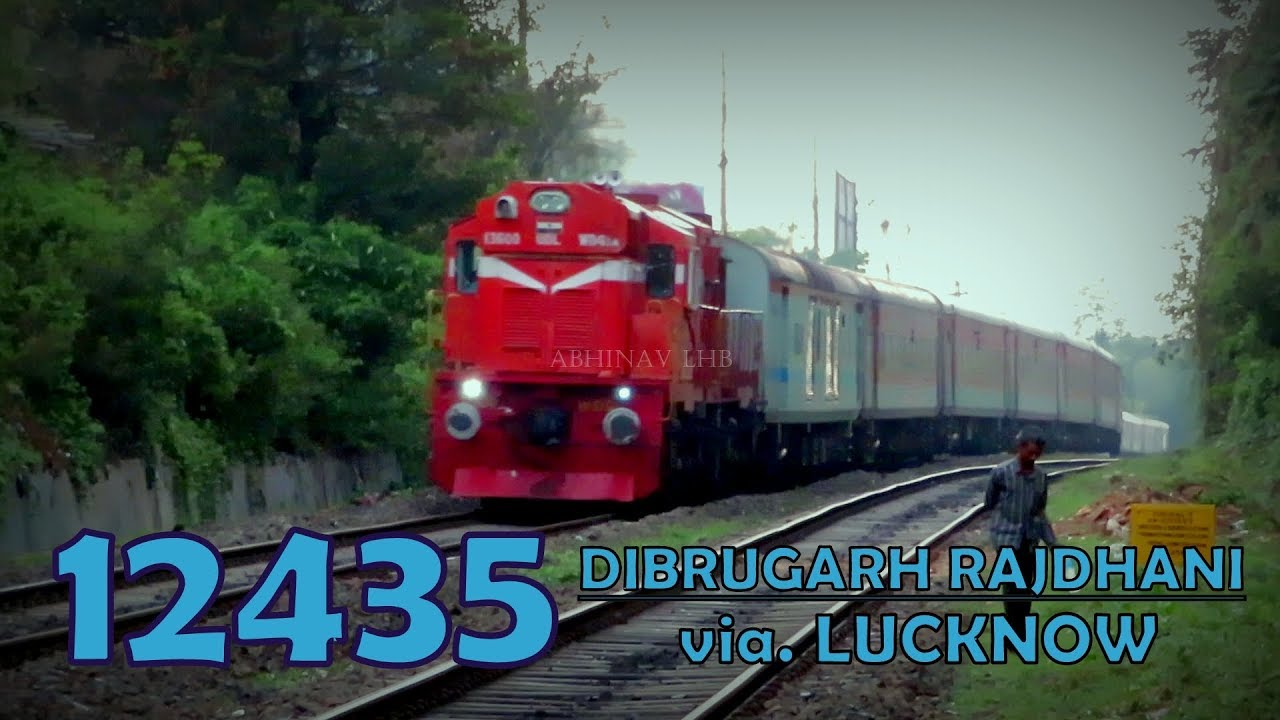 12435 Dibrugarh Town - New Delhi Rajdhani Express (via  Lucknow) with  offlink Andal ALCo WDG3A