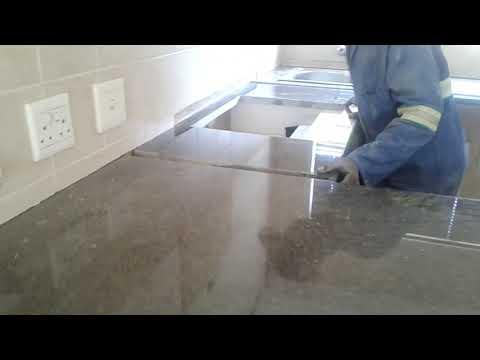 Rustenburg granite kitchen tops installation