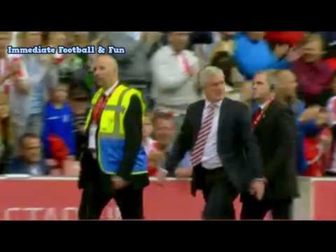 Stoke City manager mark hughes sent off vs Tottenham Hotspur 10/09/2016