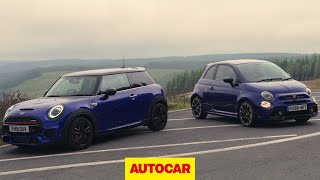 Mini JCW v Abarth 595 Review | hot hatches tested | Autocar