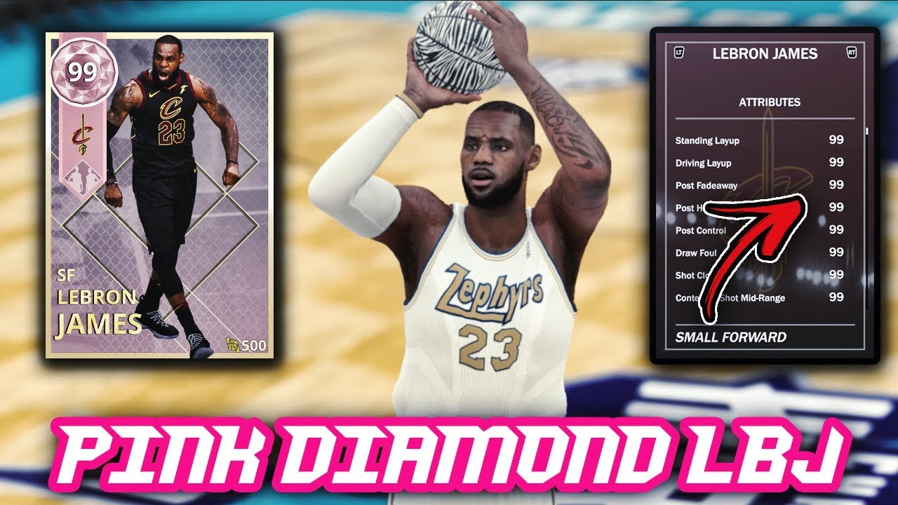 985fb388ef44d NBA 2K18 PINK DIAMOND LEBRON JAMES WITH 99 IN EVERY SINGLE STAT ...