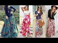 dailywear floral print fancy long skirts design for girls//stylish long skirt designs girls fashion