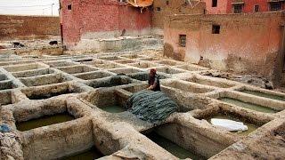 Марракеш Марокко - это не Орел и Решка зато съемки не постановочные(Марокко Марракеш день третий и седьмой день путешествия по Африке. Посещение мастерских по обработке кожи..., 2015-12-08T14:01:58.000Z)