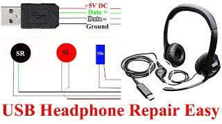How to Repair USB Headphones    USB Headphone Circuit Understand Easy