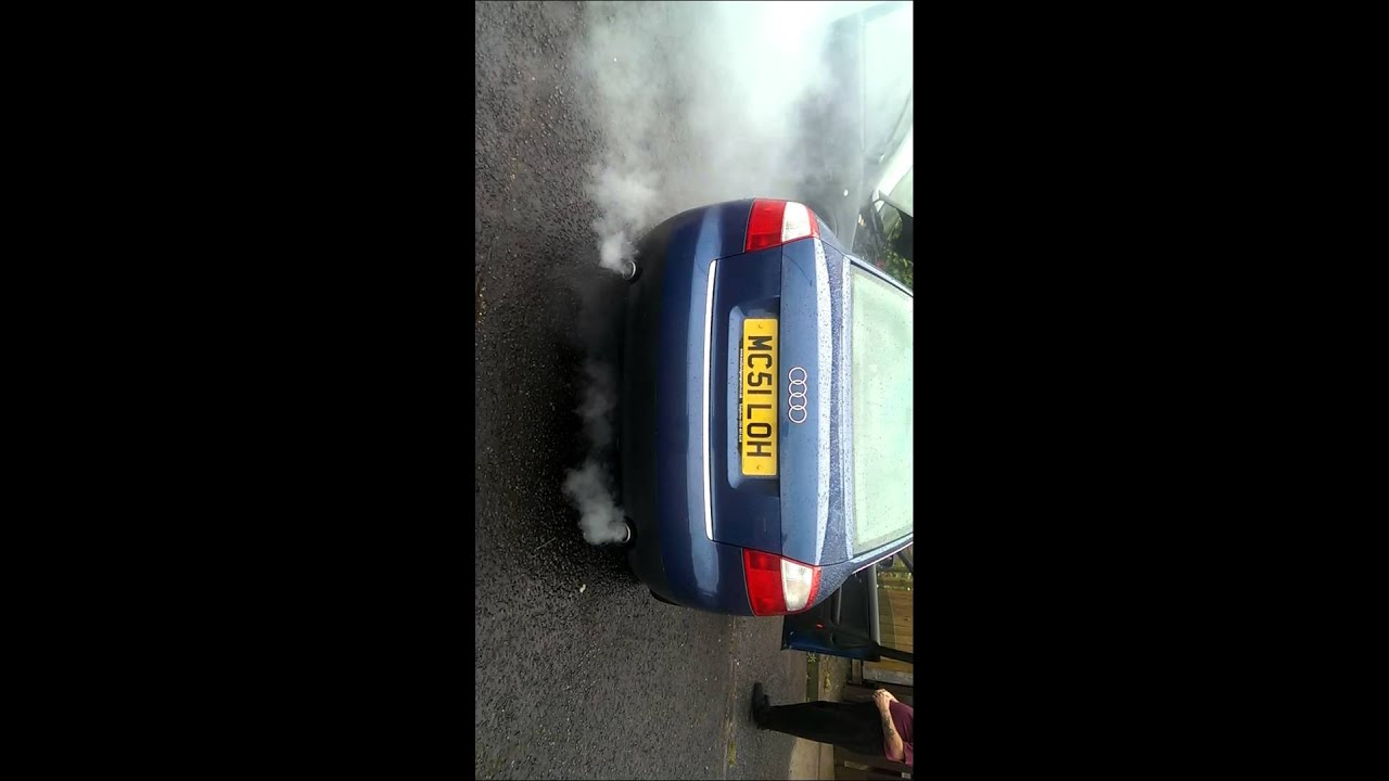 thick white smoke audi   engine problems  click   read  youtube