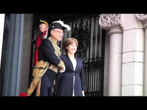 Lieutenant-Governor Arrives for Throne Speech 2011