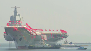 new china tv type 001a first domestically built aircraft carrier launched 1080p