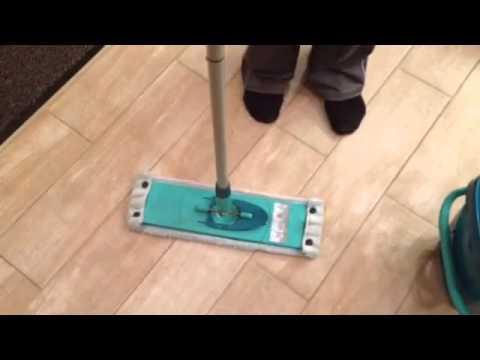 Как работает швабра с отжимом Leifheit
