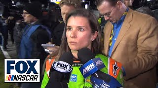 Danica Patrick Reacts to Budweiser Duel Wreck - 2015 NASCAR Sprint Cup