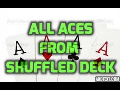 Find all the aces from a shuffled deck! #magictricksrevealed