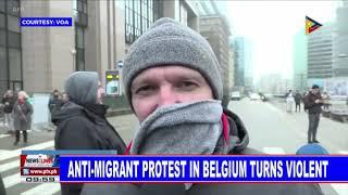 GLOBAL NEWS: Anti-migrant protest in Belgium turns violent