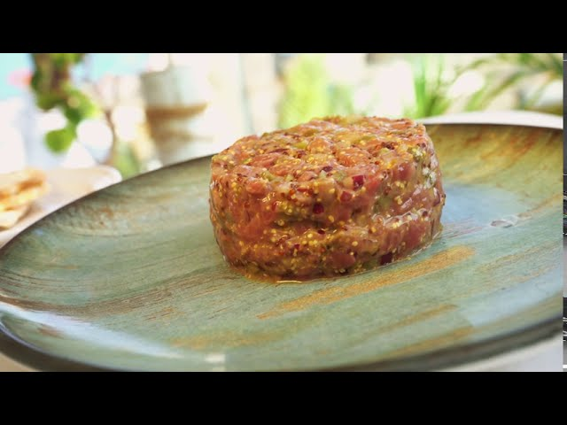 Steak Tartare Cooking Video in Marbella - Cinematic B-Roll