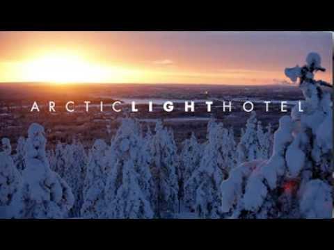 Arctic Light Hotel in Rovaniemi, Lapland, Finland.