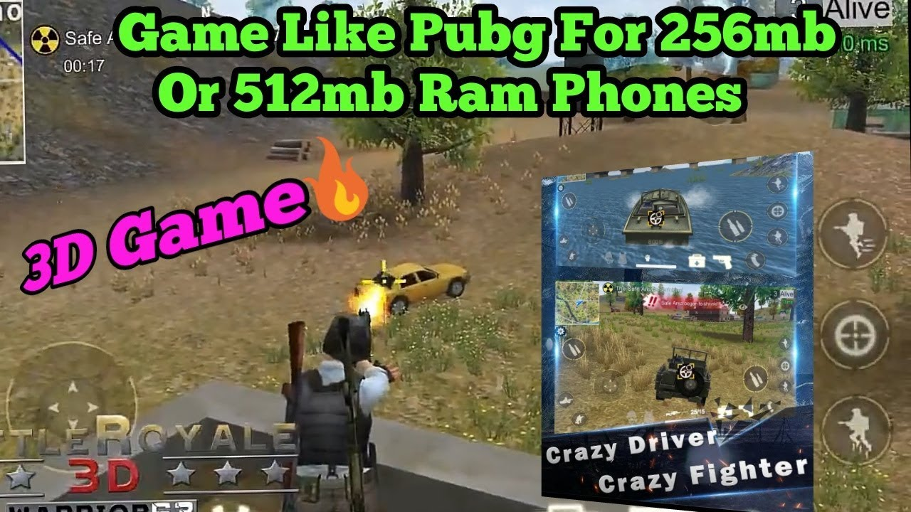 Game Like Pubg For 256Mb Or 512Mb Ram Phones - YouTube