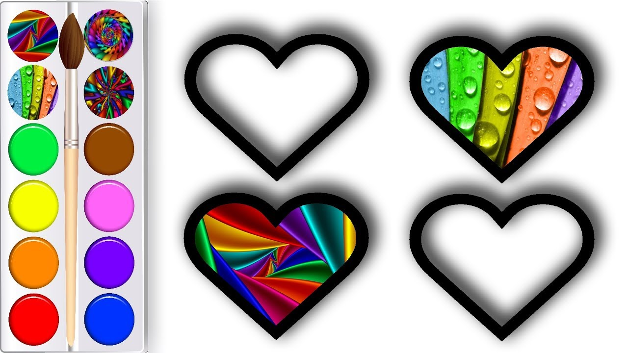 Hearts and Stars Glitter Coloring Pages For Kids   Perfect Colors ...