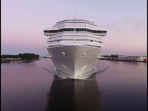 Costa Pacifica Cruise Ship Drone View