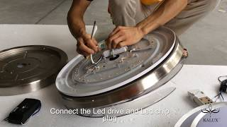 How to install LED ceiling fan