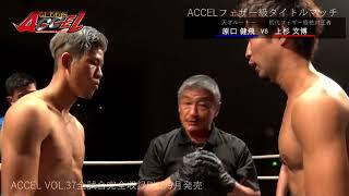 ACCEL VOL 37 フェザー級タイトルマッチ 原口健飛VS上杉文博ダイジェスト