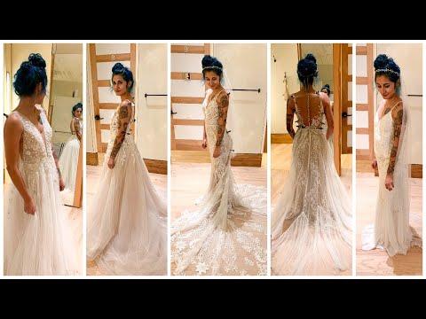 WEDDING SERIES: Trying On BHLDN Wedding Dresses