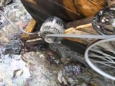 water wheel generator