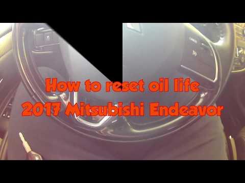 2017 Mitsubishi Endeavor/Outlander - Oil Life Rest - Oil Change Reset