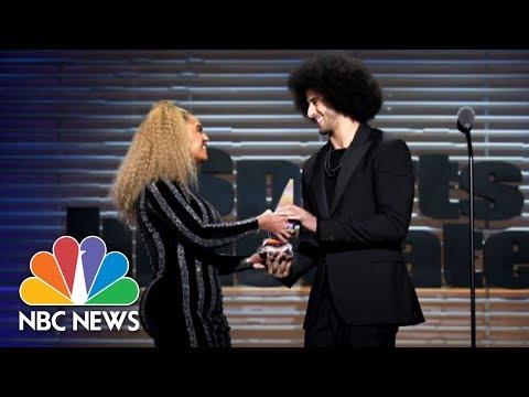 Beyoncé Presents Colin Kaepernick With Sports Illustrated Muhammad Ali Legacy Award | NBC News