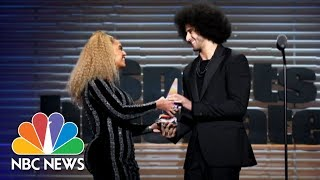 Beyoncé Presents Colin Kaepernick With Sports Illustrated Muhammad Ali Legacy Award | NBC News