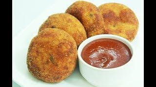 Crispy chicken kheema cutlet   Indian style minced chicken patties  snack recipe