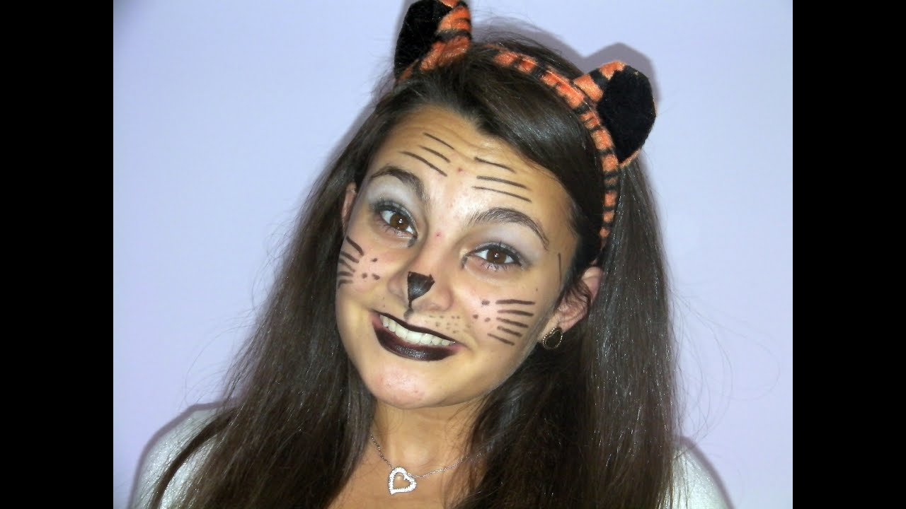 simple tiger halloween makeup youtube - Tiger For Halloween
