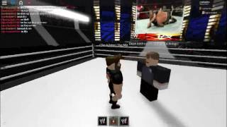 WWE Monday Night Roblox: Miz Asylum Tv with special guests The Miz and Dean Ambrose