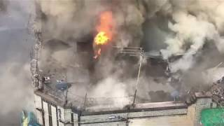FDNY BOX 3378- FDNY BATTLING MAJOR 5TH ALARM COMMERCIAL FIRE IN TAXPAYERS ON 194TH ST. IN THE BRONX.