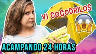 24 HORAS ACAMPANDO EN EL PATIO - VI COCODRILOS y casi muero del susto 😱 thumbnail