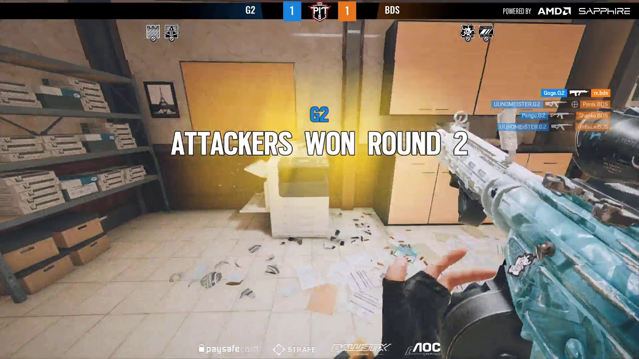 Download OGA PIT TOM CLANCY'S RAINBOW SIX® MINOR POWERED BY AMD AND SAPPHIRE EU Closed Qualifiers - G2 vs