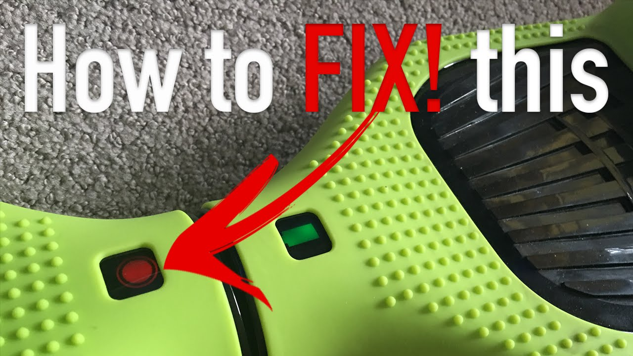 how to fix hoverboard red light flashing beeping sound