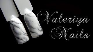 Мрамор на ногтях♥ Дизайн ногтей ♥ Маникюр♥ Гель-лак♥