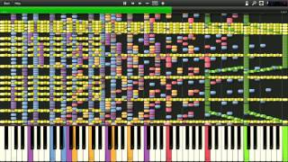 Nyan Cat impossible piano version by Super Midi Creator