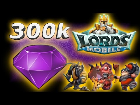 Lords Mobile 300k GEMS!! | GEMMING MASS T4 TROOPS!