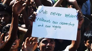 Rohingya refugees Bangladesh camps protest against repatriation to Myanmar in Bangladesh