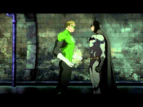 Green Lantern meets Batman, Batman owns Green Lantern (Justice League: War - 2014)