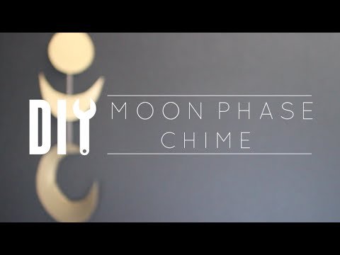 DIY Cheap Room Decor // Moon Phases Chime