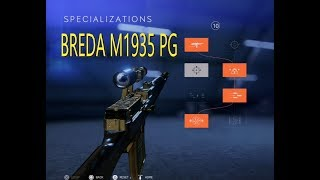 Battlefield 5 New BREDA M1935 PG Specializations 51-10 ps4