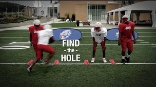 2 Minute Drill - Find the Hole, Running Back Drill